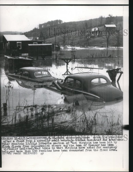 1915 Press Photo Charleston W. Va Flooding - Historic Images
