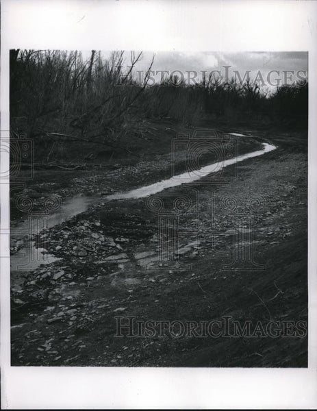 1957 Press Photo Neisho River Principal Water Source Parsons Kansas - Historic Images
