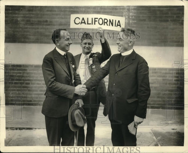 1925 Press Photo American Legion, Wm Patrick, Father J Lonegran of Calif. - Historic Images
