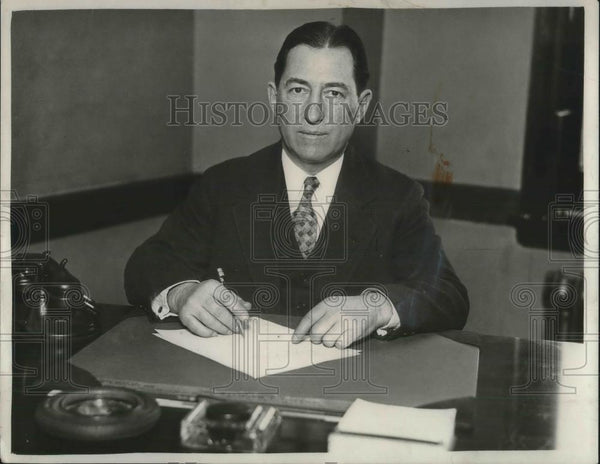 1930 Press Photo Robert Wagner, New Operating Manager of Cleveland Club - Historic Images