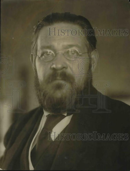 1923 Press Photo M. Albert Thomas, new director of Labor Dept. League of Nations - Historic Images
