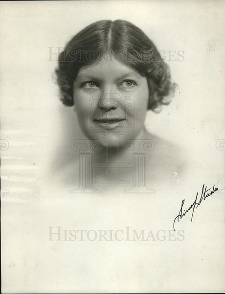 1926 Press Photo Mrs Edith Hieleman, broadcasts Garden talks from WHT - Historic Images
