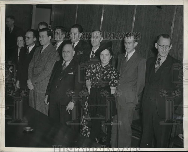 1939 Press Photo La, Calif. Parade of Irish Sweepstakes winners at Grandy Jury - Historic Images