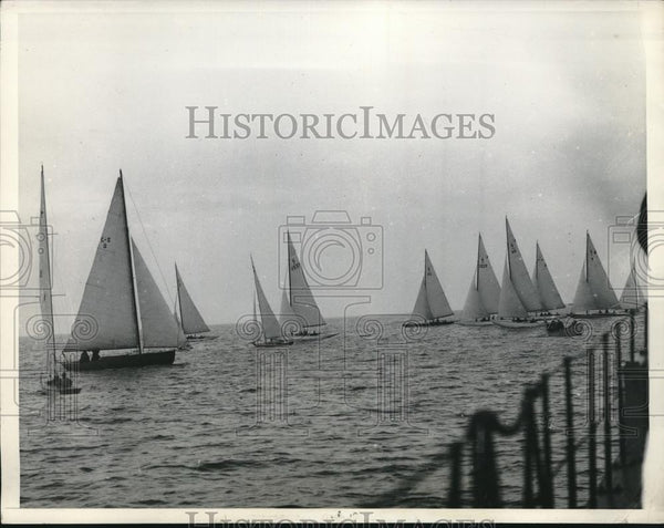 1934 Press Photo National Midwinter Sailing Regatta, Los Angeles Harbor - Historic Images