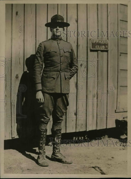 1918 Press Photo Capt. Wickersham training at Camp Wadsworht, Spartansburg, S.C. - Historic Images