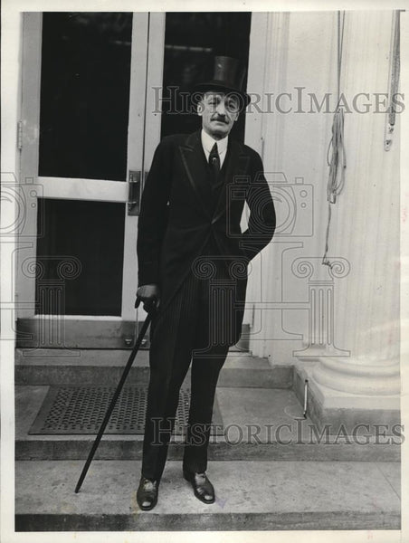 1931 Press Photo Former Spanish Ambassador To US Don Alejandro Padilla - Historic Images