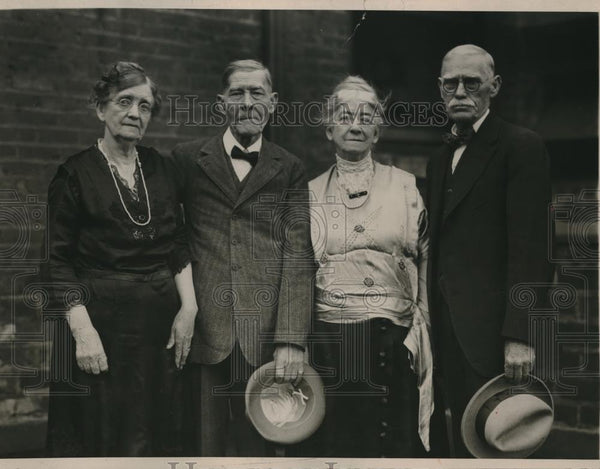 1924 Press Photo Albert C. & Frank E. Souther & Brides Of Florence Kentucky - Historic Images