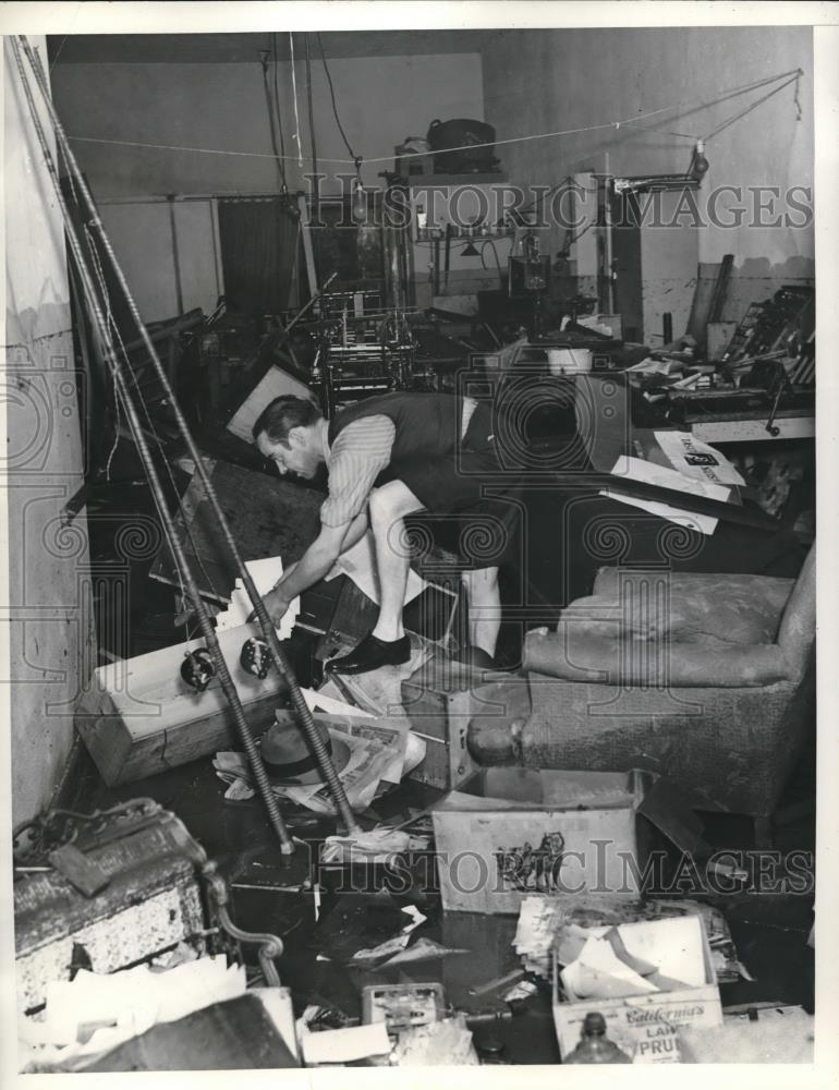 1938 Press Photo Store wrecked by flood waters in Los Angeles - Historic Images