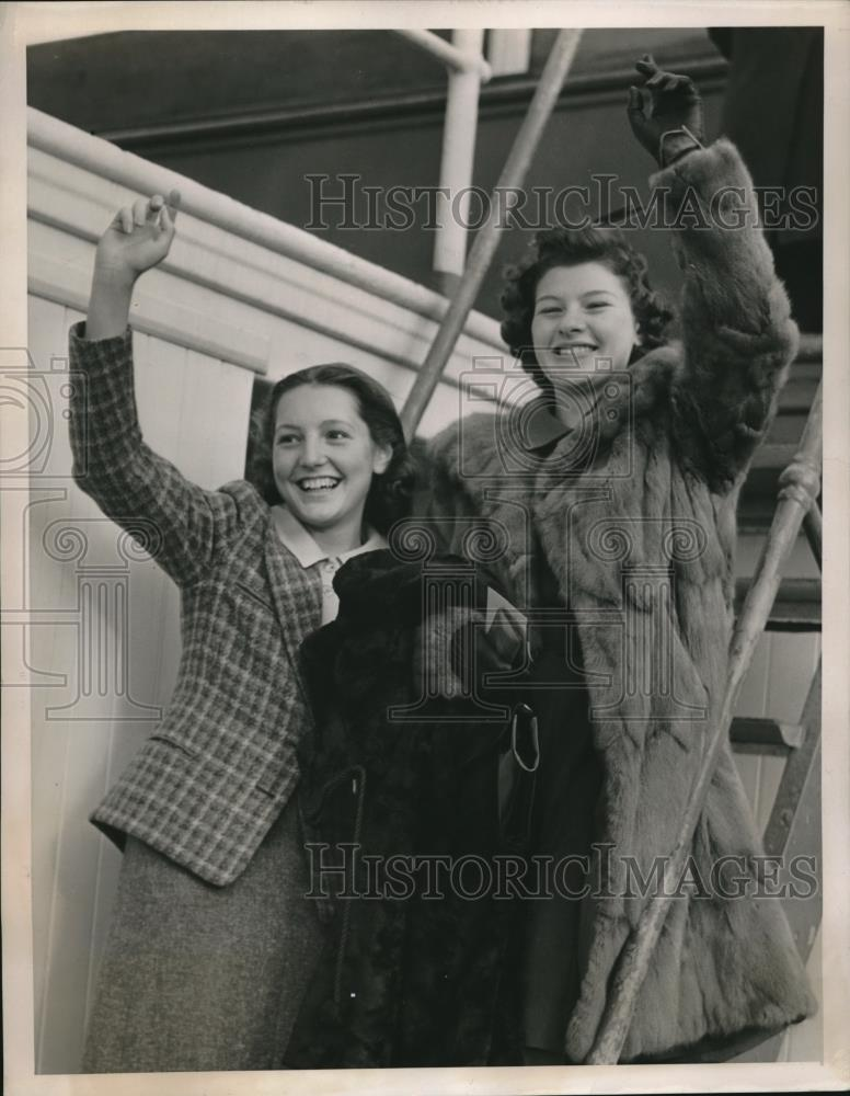 1939 Press Photo Jean Shackter of Markham Grammer School & Shannon Greene - Historic Images