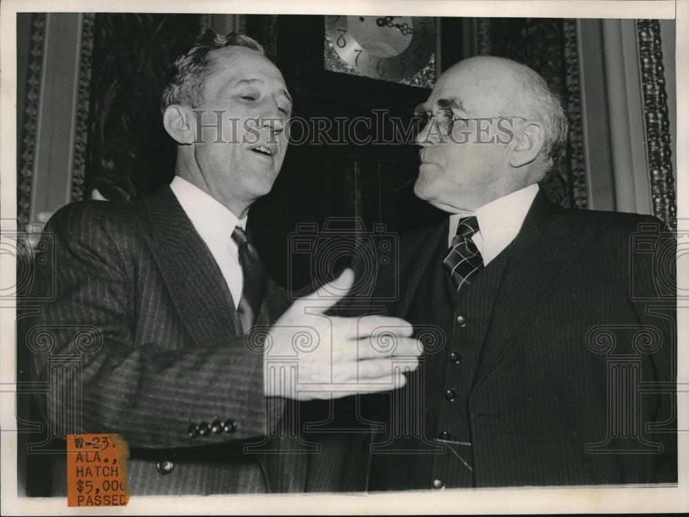 1940 Press Photo Sen. Carl Hatch, Sen. John Bankhead - Historic Images