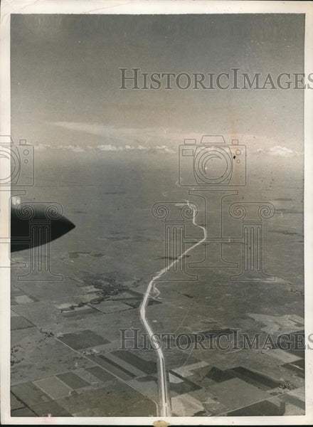 1956 Press Photo 20,000 Feet view of Kansas from an Air National Guard T-33 Jet - Historic Images