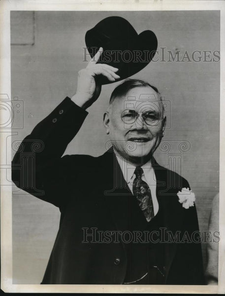 1934 Press Photo William Green President of American Federation of Labor - Historic Images