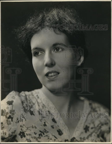 1933 Press Photo Mona Goodwyn Williams Women in News - Historic Images