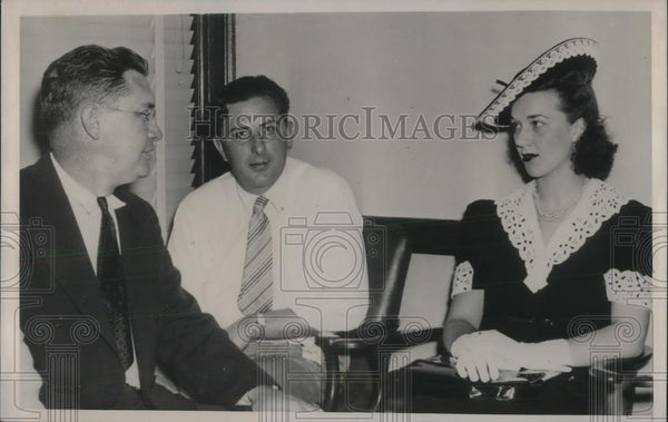 1940 Press Photo Atty General John E Cassidy Mayor Harold A Rave Of Lockport - Historic Images