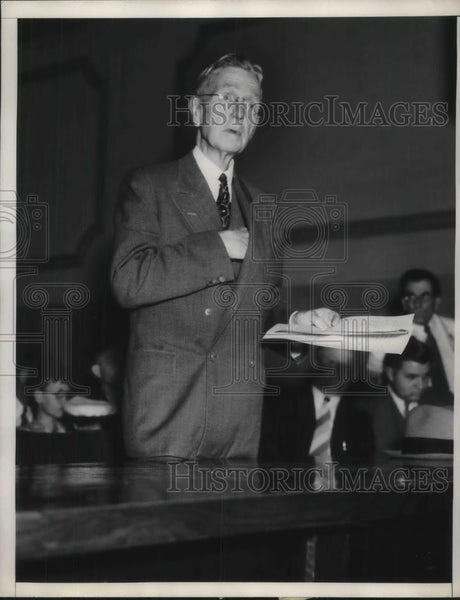 1936 Press Photo A minister begs no violence at orange strikers - nec29226 - Historic Images