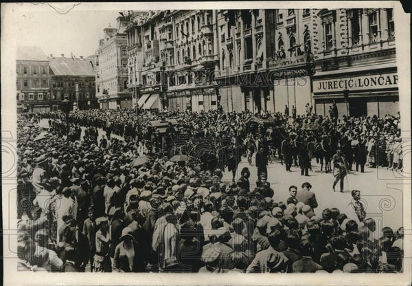 1930 Press Photo Funeral of Serbian Deputies at Zagred - nec26013 - Historic Images