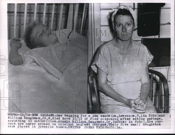 1955 Press Photo Lawrence and William Baughman died of food poisoning - Historic Images
