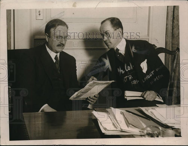 1920 Press Photo Mayor Hylan, Commissioner James Gannon, Jersey City - nec31089 - Historic Images