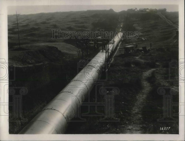1927 Press Photo Sao Paulo, Brazil  water pipe laid from Rio Claro Basin - Historic Images