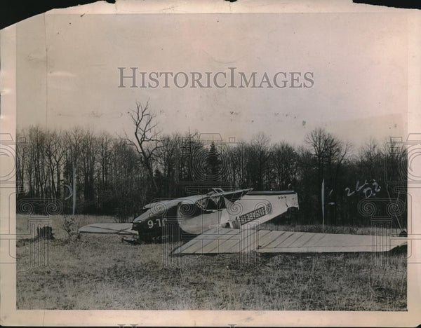 1922 Press Photo Amundsens Wrecked Monoplane Elizabeth On Transcontinental Trip - Historic Images