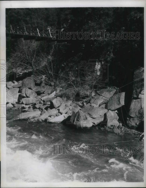 1946 Press Photo MIssing Car Found American River, Placerville - nec37445 - Historic Images