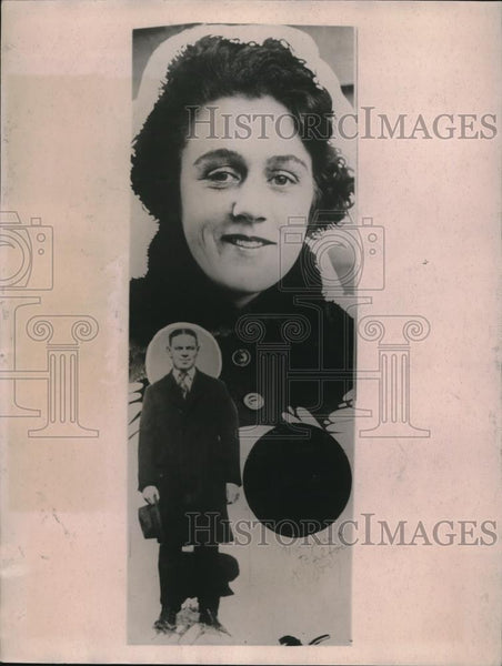 1922 Press Photo Norma Gordon convicted of smashing windows home Arthur Balfour - Historic Images