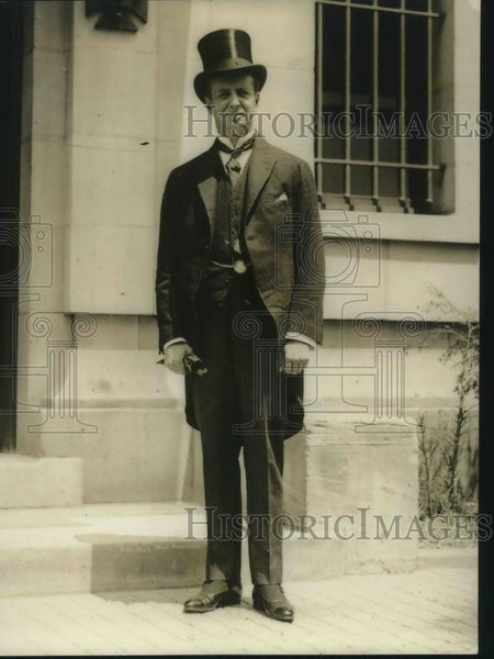 1922 Press Photo Oscar G. Gana newly arrived Counselor of the Embassy of Chili - Historic Images