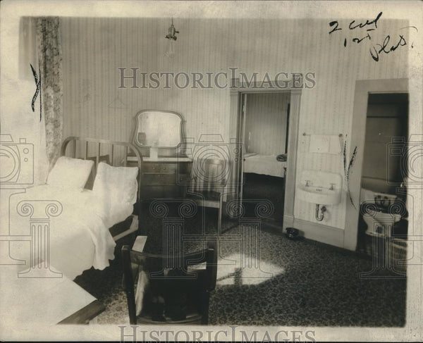 1921 Press Photo Rooms Occupied by Jake Harmon and Clara Smith - nec18633 - Historic Images