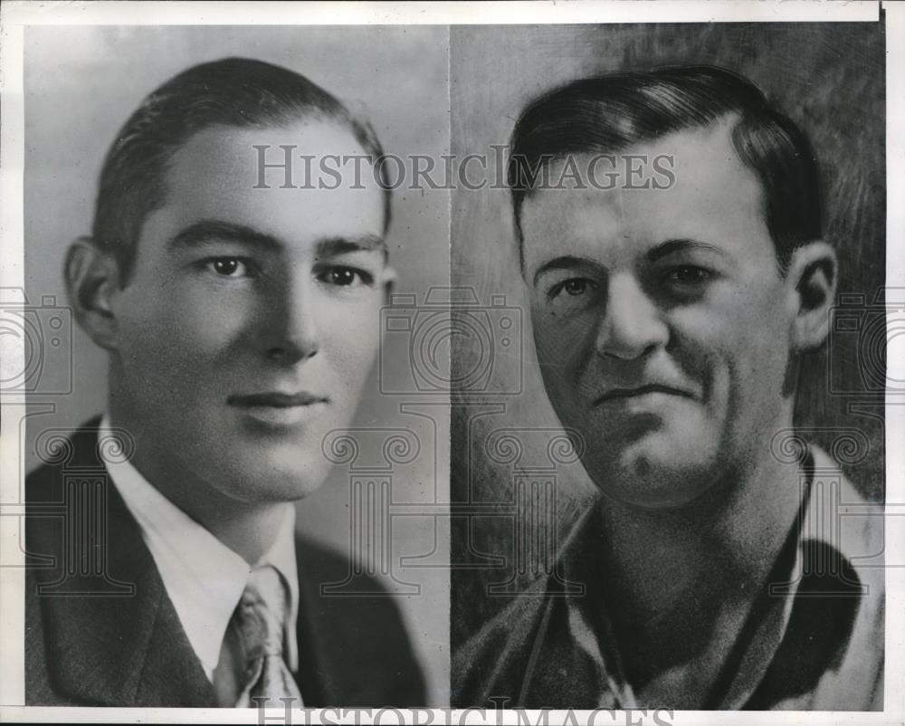 1940 Press Photo Cyril Ables & Ralph Allison Both Men Found Strangled - Historic Images