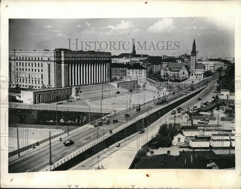 1939 Press Photo Finnish Parliament Building in Helsinki, Finland - nec42892 - Historic Images