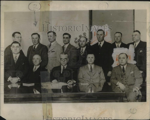 1928 Press Photo Chicago, AL Pro Clubs pres ES Barnard,G Hildebrand,TH Connally - Historic Images
