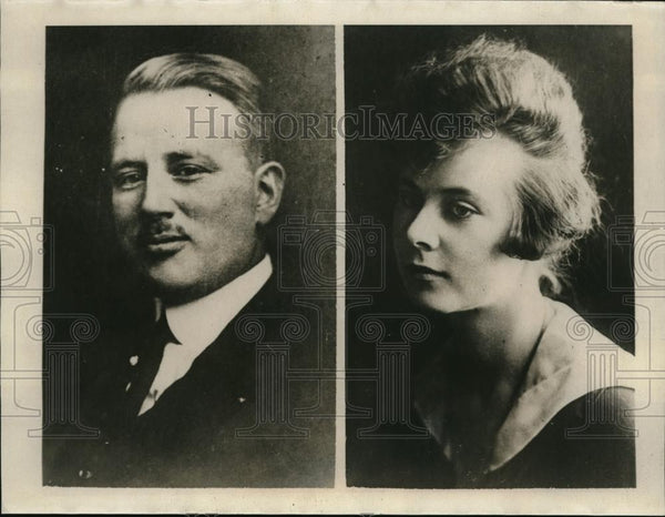 1923 Press Photo Lionel Shepherd & half sister Claire, disappeared from home - Historic Images