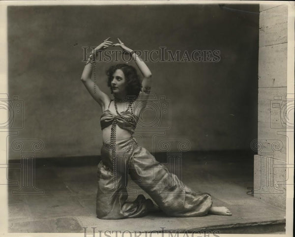 1928 Press Photo Sara Sherbarne in plat Hassan at Harvard Dramatic Club - Historic Images