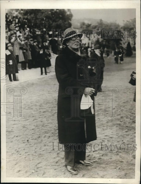 1929 Press Photo Cannes, France Robert Appleton, US race horse owner at Prix - Historic Images
