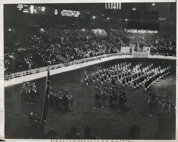 1932 Press Photo Inaugural ceremony at NYC National Horse Show - nes16901 - Historic Images
