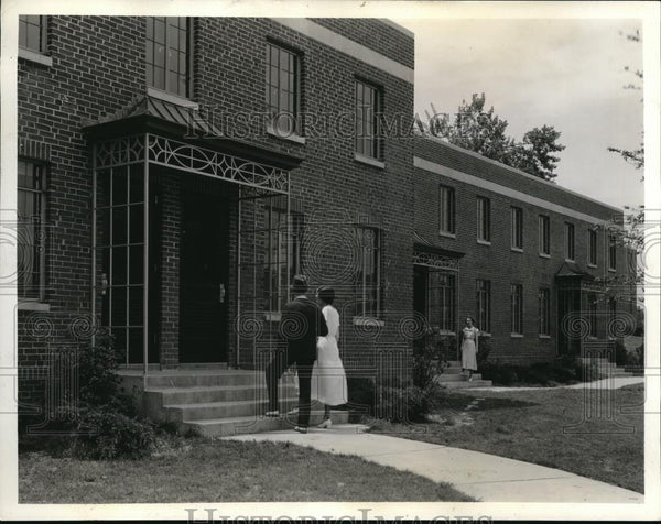 1936 Press Photo One of the entrances of the new housing in Techwood Atlanta - Historic Images