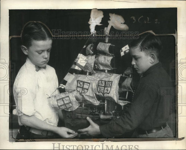 1923 Press Photo Francis Haught and Anthony Constantino of Waverly School - Historic Images