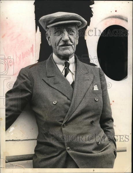 1933 Media Photo British Star Aubrey Smith sails for England today - Historic Images