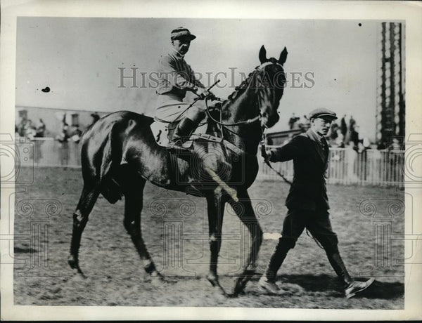 1932 Press Photo Crumpets candidate for English Derby owned by M E Morris with - Historic Images