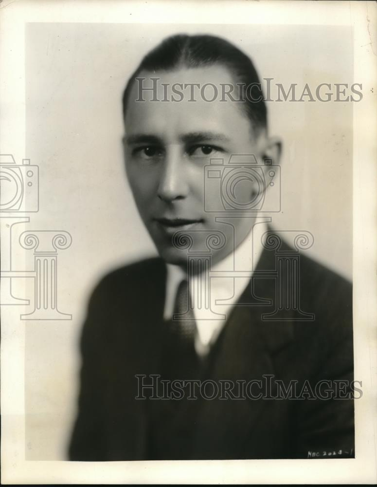 1931 Press Photo H Warden Wilson Is Winning Popularity For His Imitations - Historic Images