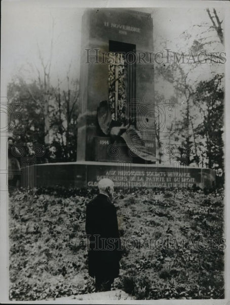 1922 Press Photo Compiegne Forrest monument in France - Historic Images