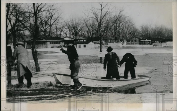 1938 Press Photo Illinois floods continue - Historic Images