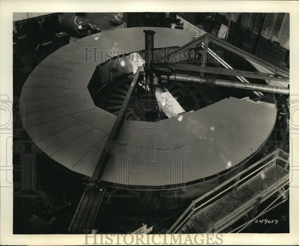 1938 Press Photo Westinghouse Electric Mfg. Co. Camouflages Largest Telescope - Historic Images