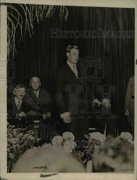 1919 Press Photo Prince Of Wales Addresses Delegation of English Businessmen - Historic Images