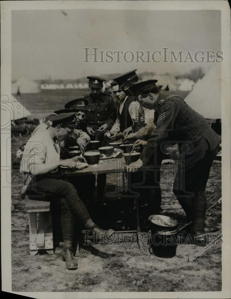 1921 Press Photo National Defense Corps at Wormwood Scrubs with Artillery - Historic Images