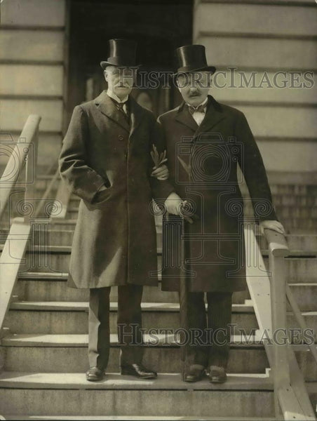 1924 Press Photo Sir Eame Howard & Henry Gety Chilton, British State Department - Historic Images