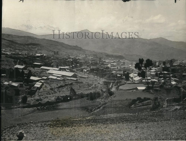 1927 Press Photo Aerial view of La Paz Bolivia - Historic Images