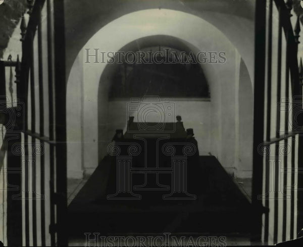 1923 Press Photo Bier used for George Washington's remains & other presidents - Historic Images