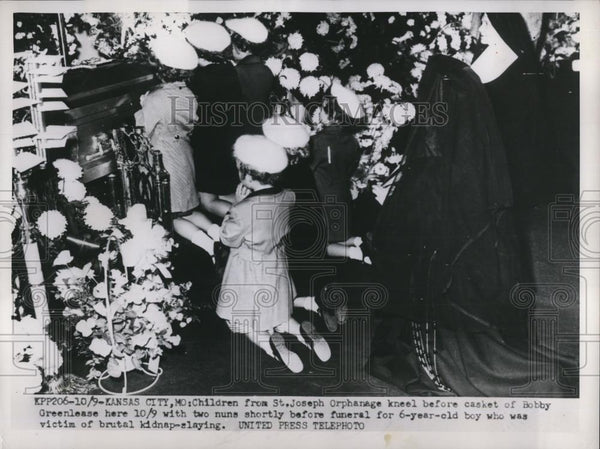 1953 Press Photo Bobby Greenlease Killed By Kidnapper, Laid to Rest At Six. - Historic Images