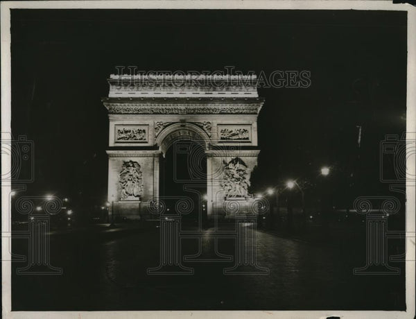 1921 Press Photo Beautiful Arc de Triomphe - Historic Images